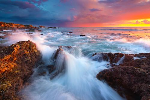 sunset cloud beach newportbeach southerncalifornia orangecounty coronadelmar ☆thepowerofnow☆