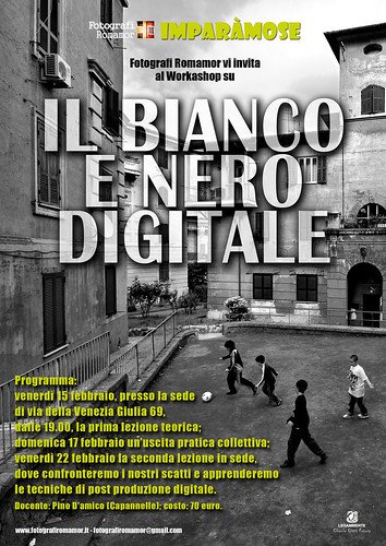 Workshop bianco e nero digitale