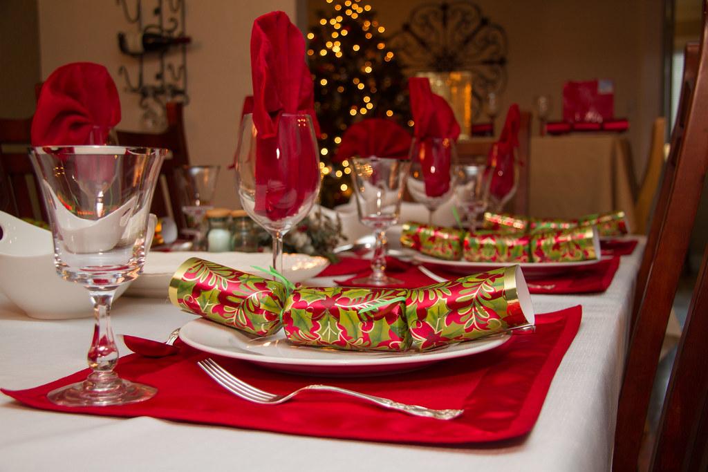 Christmas Plate Settting