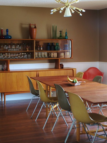 Natural light in our new danish modern mid century dinning room