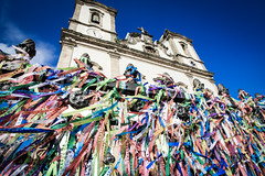 Igreja NS do Bonfim (home of the fitas; coloured ribbons) - Salvador, Brazil