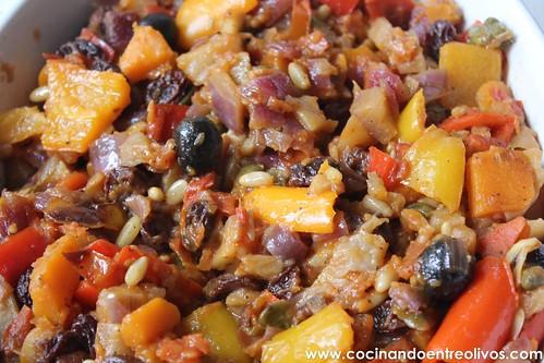 Caponata siciliana www.cocinandoentreolivos.com (20)