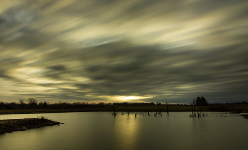 wood longexposure morning trees winter sky tree nature water clouds sunrise canon outdoors morninglight pond cloudy hiking january overcast 7d cloudysky stormclouds buschwildlife canon7d canon1585mmlens