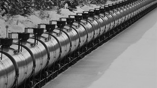 Westbound oil train, Essex MT