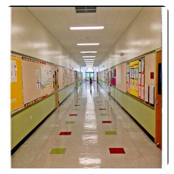 Elementary school hallway. #childhood #happy #iphone4s ...