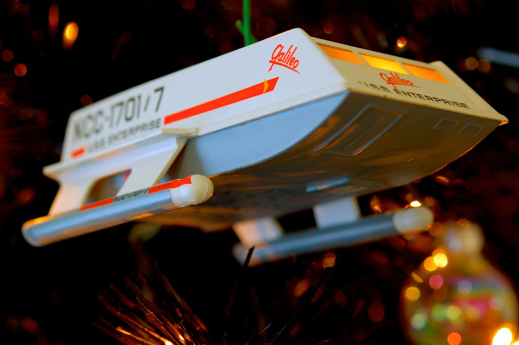Shuttlecraft Galileo On The Star Trek Christmas Tree 2012
