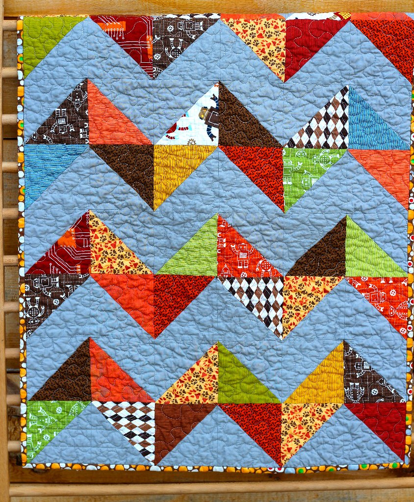 What Are Little Boys Made Of? Chevron Quilt