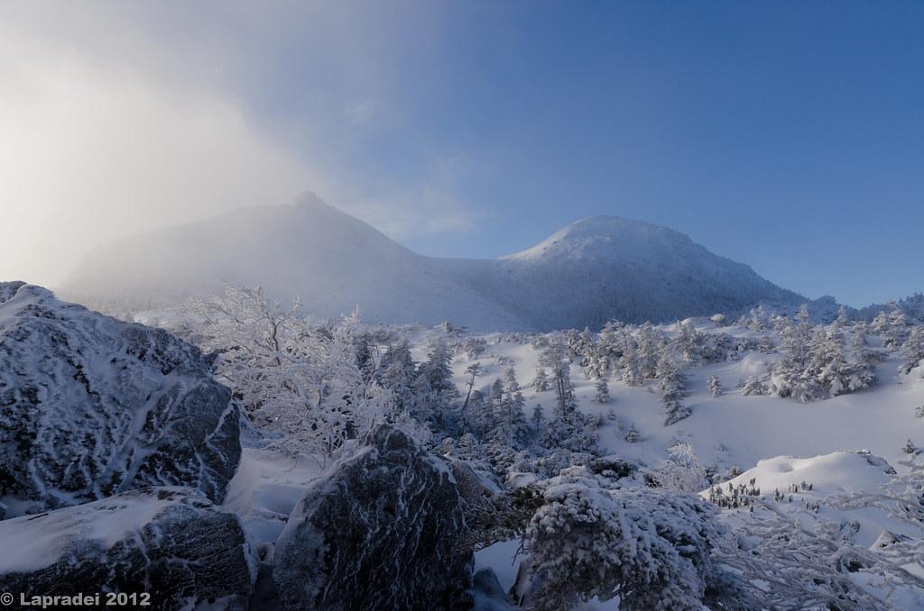 20121223 雪にけぶる天狗岳