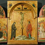 [ B ] Duccio di Buoninsegna - Triptych  Crucifixion and other Scenes (1302-08)