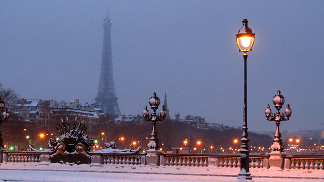 January snow in Paris