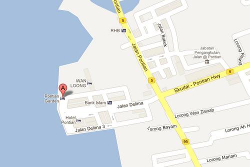 Pontian Garden Hotel on Google Maps