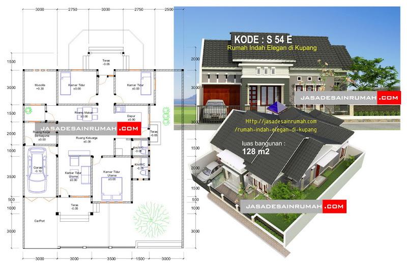 Rumah Indah Elegan di Kupang @ Jasa Desain Rumah