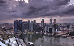 Singapore from Marina Bay Sands SkyPark