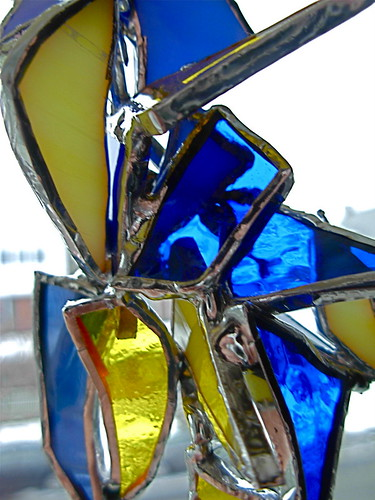 3D Suncatcher in Yellow and Blue by Wayne Stratz