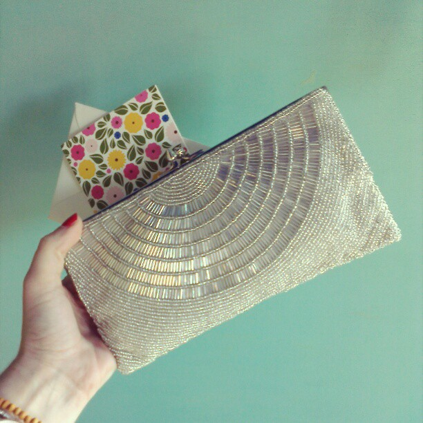 BHLDN Beaded Deco Clutch