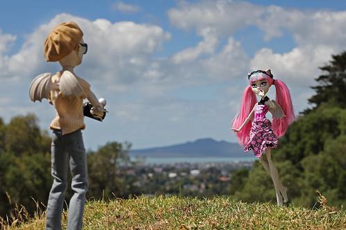 newzealand canon landscape toys outdoors volcano dolls cam auckland gargoyles ef50mmf18ii rangitoto onetreehill 550d t2i canoneos550d createamonster monsterhigh rochellegoyle flintmacquarrie