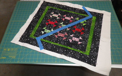 Taped quilting design