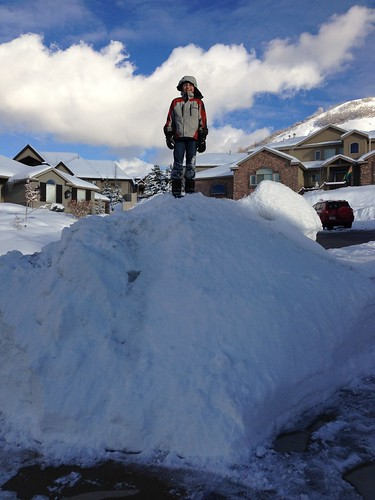 Snow pile Seven feet deep! by clingmann