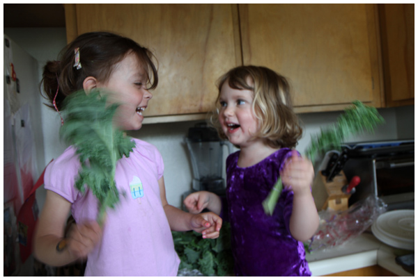 Friends making kale chips (April 2012)