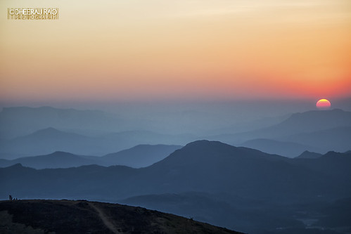 sunset sun mountains nature canon landscape photography mullayanagiri canoneos550d