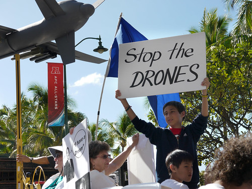 Stop the Drones Contingent at MLK Hawai'i parade