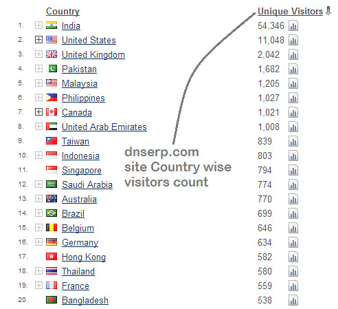 Flag couner top 20 country dnserp site