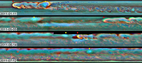 La tempesta su Saturno: evoluzione