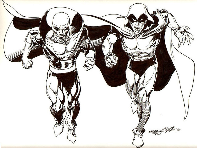 Neal Adams Deadman And Spectre Illustration Illustration