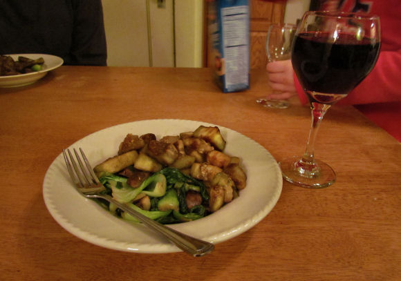 Veggie Delight with Cabernet