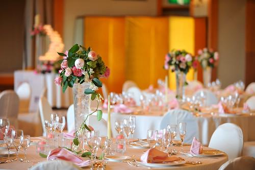 The Westin Miyako, Kyoto—Wedding table setting - rose