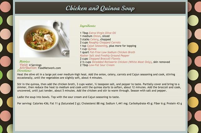 Chicken and Quinoa Soup Recipe copy