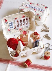 Sewing Kit Egg Carton