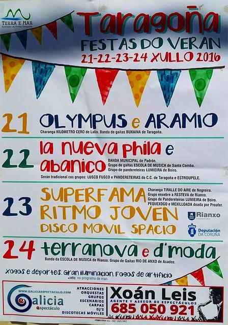 Rianxo 2016 - Festas de Taragoña - cartel