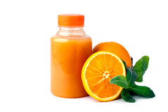 Orange Smoothie on white