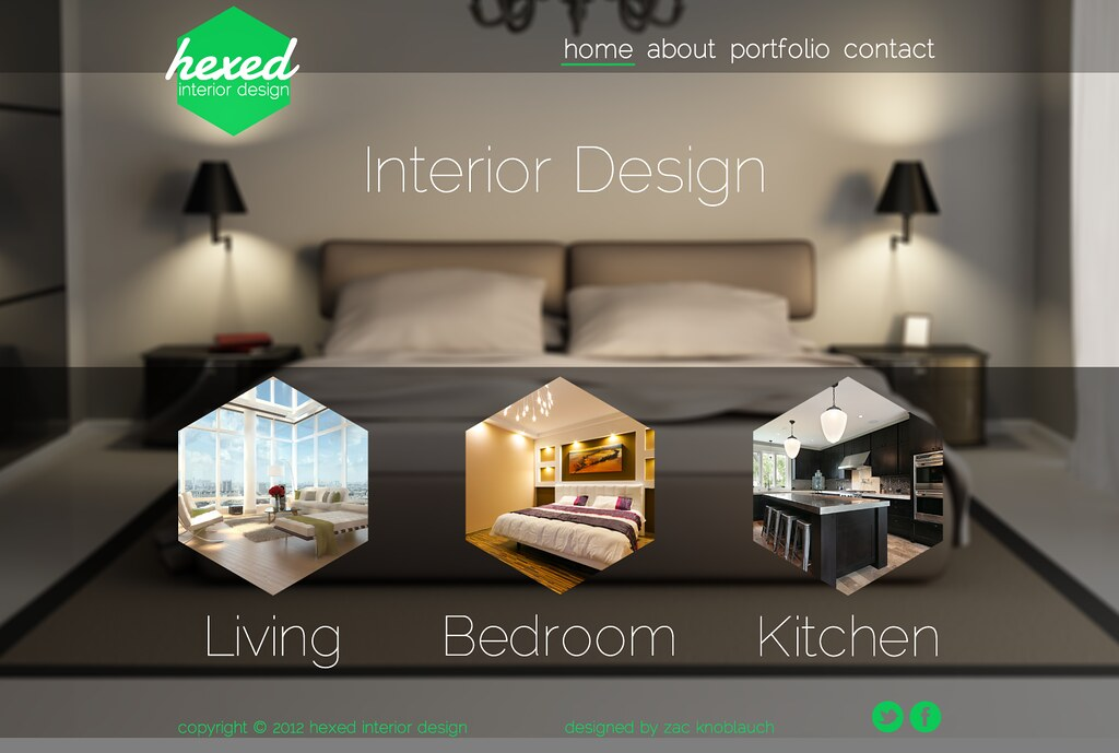 Hexed Interior Design Website