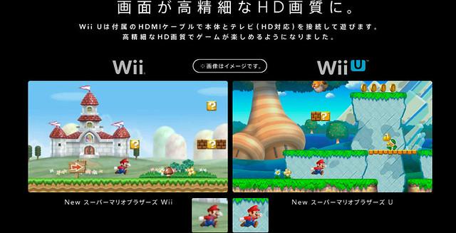 WiiUは高精細なHD画質