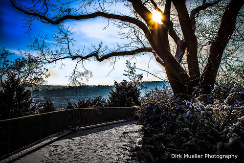 On the top of snow-covered Stuttgart-West by Dirk Mueller Photography