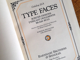 Barnhart Brothers & Spindler 1925 type specimen book