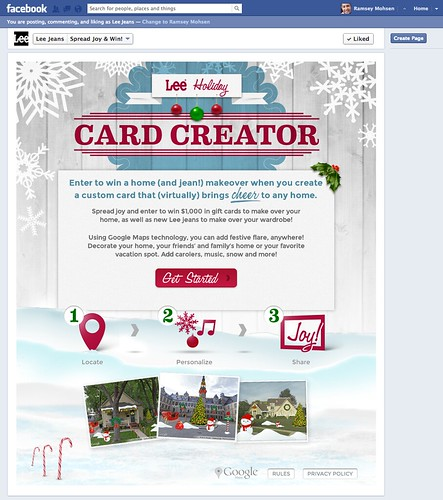 Lee Jeans - Card Creator Facebook App Campaign