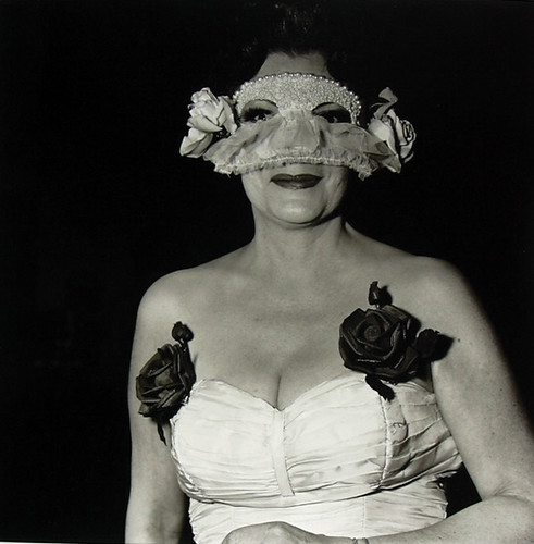 Arbus, Diane (1923-1971) - 1967 Lady at a Masked Ball with Two Roses on Her Dress, NY by RasMarley