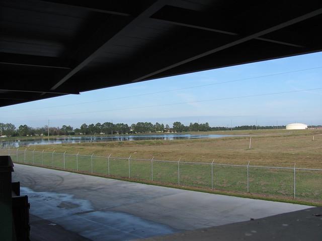 Wetland view at dump