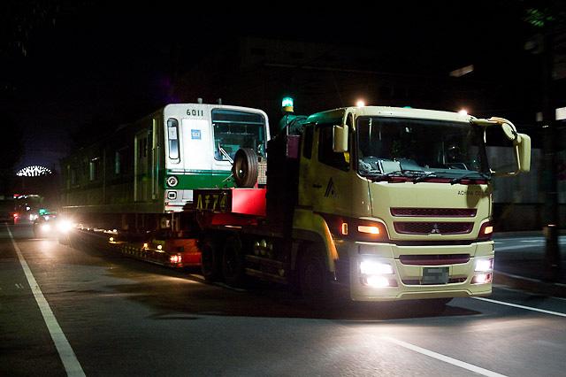 東京メトロ千代田線6000系6111F 6011号車 インドネシア向け陸送