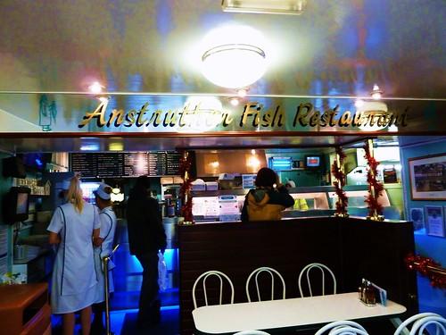 Inside Anstruther Fish Bar, Scotland