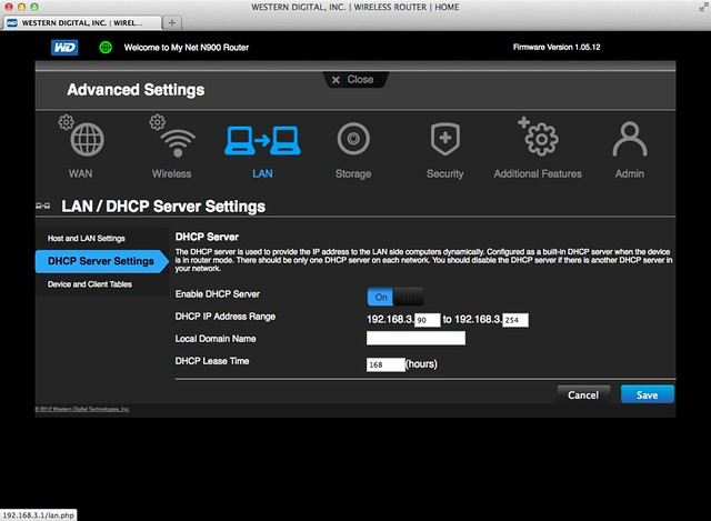 WD My Net N900 Router - DHCP