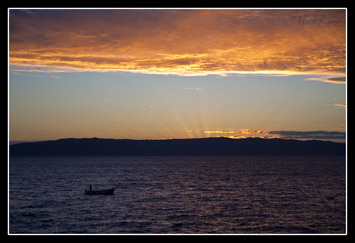 sunset sky orange croatia cres
