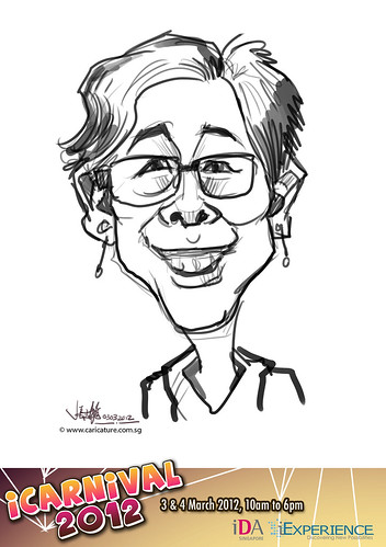 digital live caricature for iCarnival 2012  (IDA) - Day 1 - 5