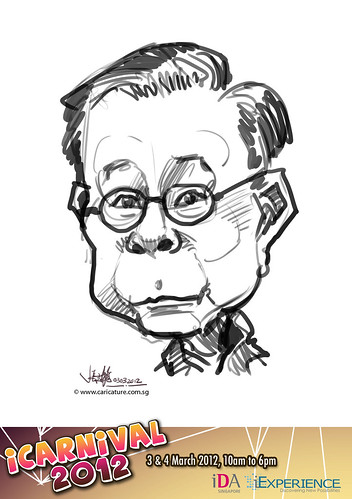 digital live caricature for iCarnival 2012  (IDA) - Day 1 - 29