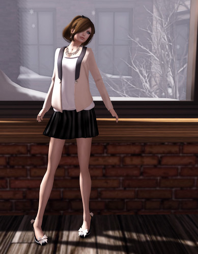 Even flow basic black skirt at acid Lily by Miss Laylah Lecker