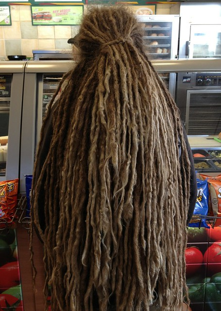Masterful Dreadlocks at the Sandwich Shop