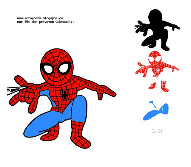 Spiderman - Schneidvorlage